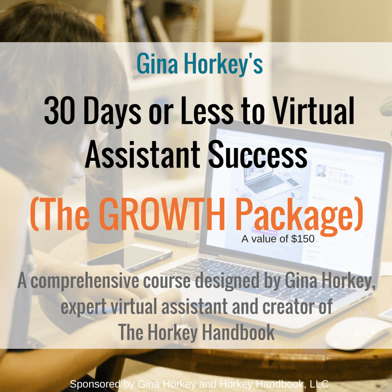 Mom is More is giving away Gina Horkey's popular course, 30 Days or Less to Virtual Assisting Success: The Growth Package! Come check it out and enter to win!
