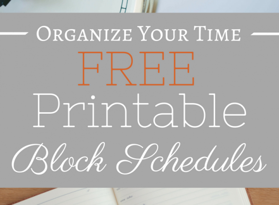 Maximize your time management with these FREE printable block schedules!