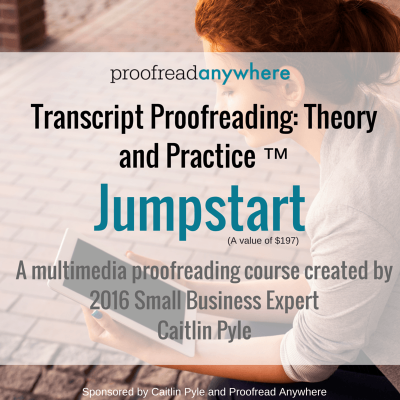 Mom is More is giving away a Jumpstart membership for Proofread Anywhere's popular course, Transcript Proofreading: Theory and Practice! Come check it out and enter to win!