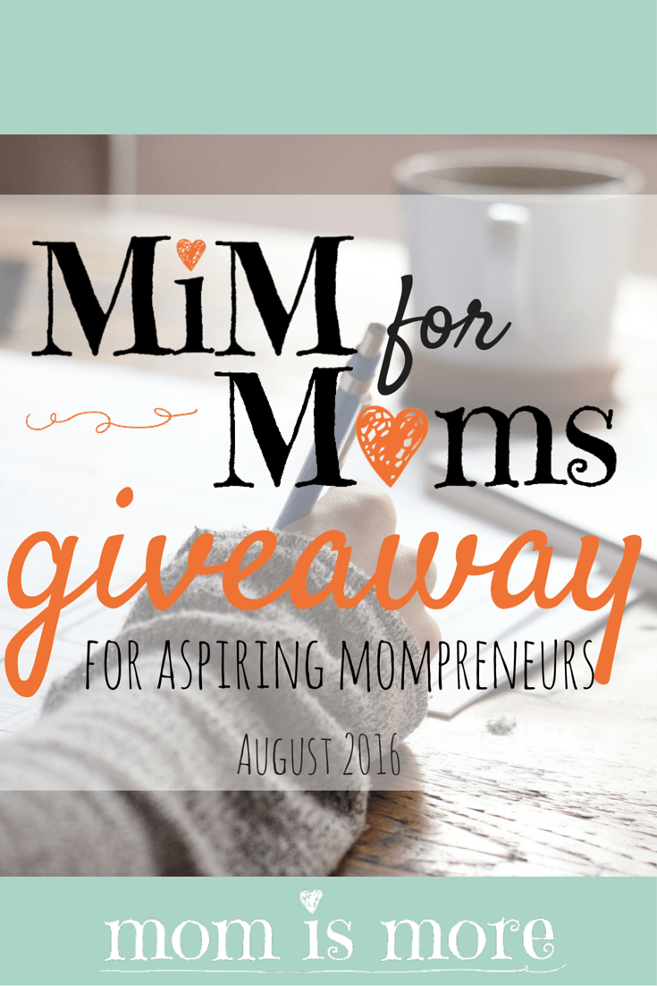 Momismore.com is hosting a MASSIVE giveaway for the month of August for aspiring work-at-home moms! Come check out the details and enter to win some fantastic prizes from some amazing sponsors!