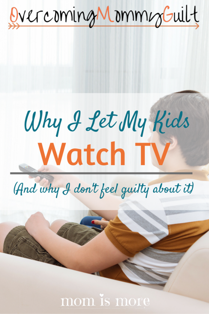 Letting my kids watch TV used to be a major source of guilt for me. Come on over to MiM to find out how I let it go and how my family keeps the TV without the guilt!