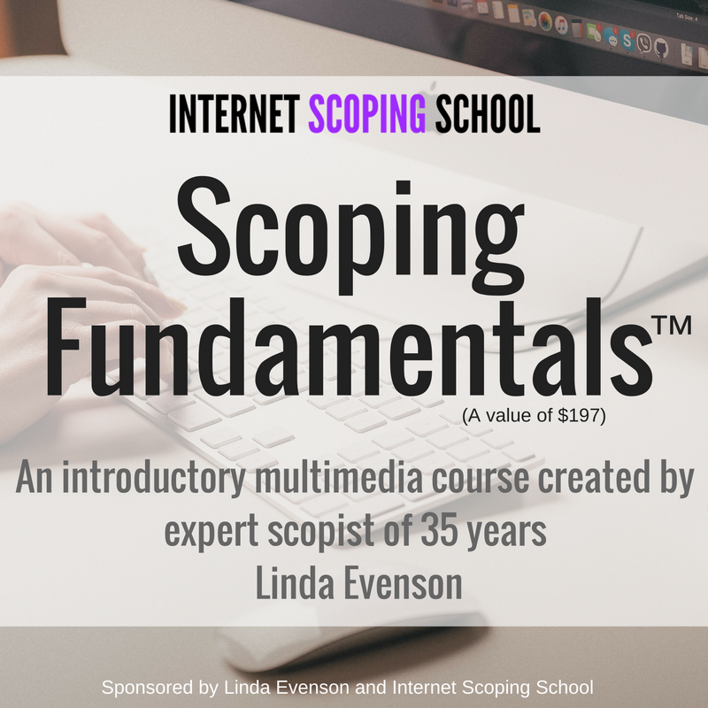 MomisMore.com is giving away free enrollment to Internet Scoping School's Scoping Fundamentals! Can't wait to enter!!