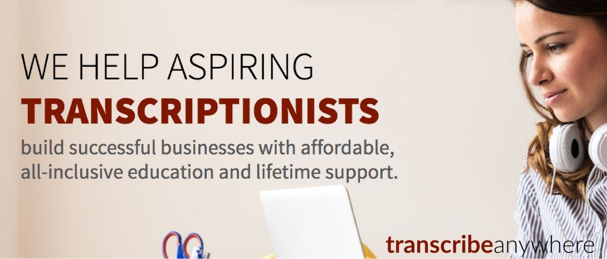 Transcribe Anywhere provides training for work-at-home legal and general transcriptionists.