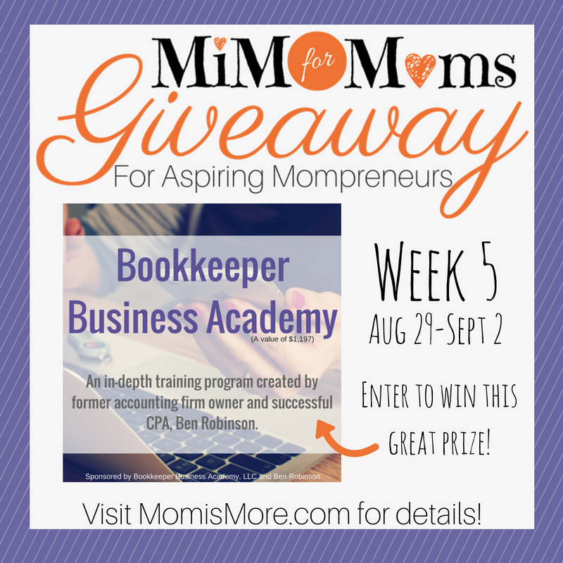 No way! MomisMore.com is giving away FULL tuition to Bookkeeper Business Academy! I'm so entering!